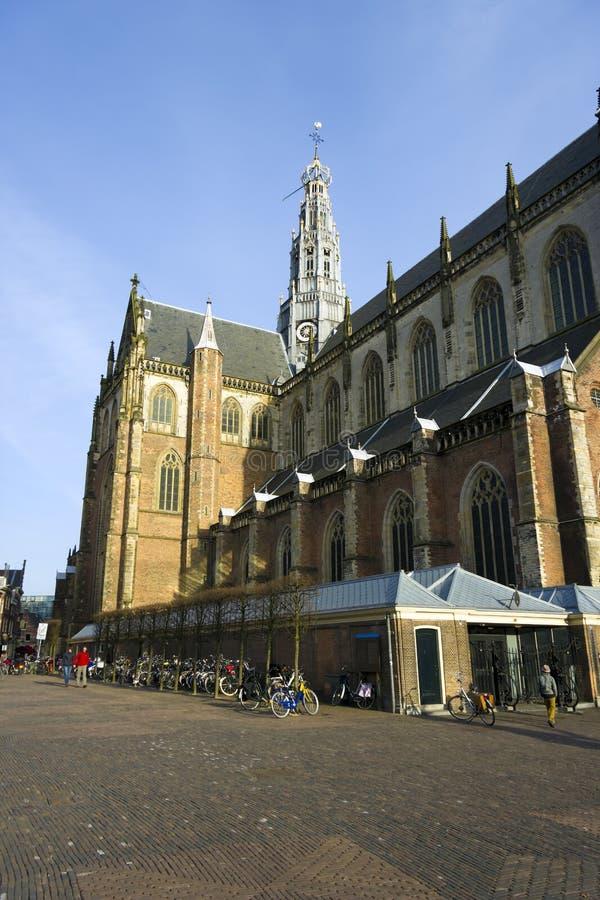 Chiesa di bavo della st, Haarlem, Paesi Bassi fotografia stock libera da diritti