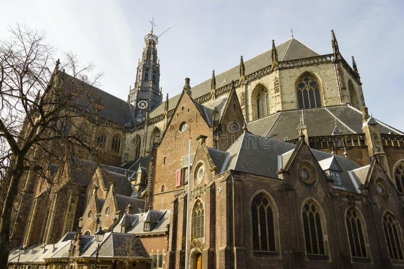 Chiesa di bavo della st o kerk Haarlem del grote immagine stock libera da diritti