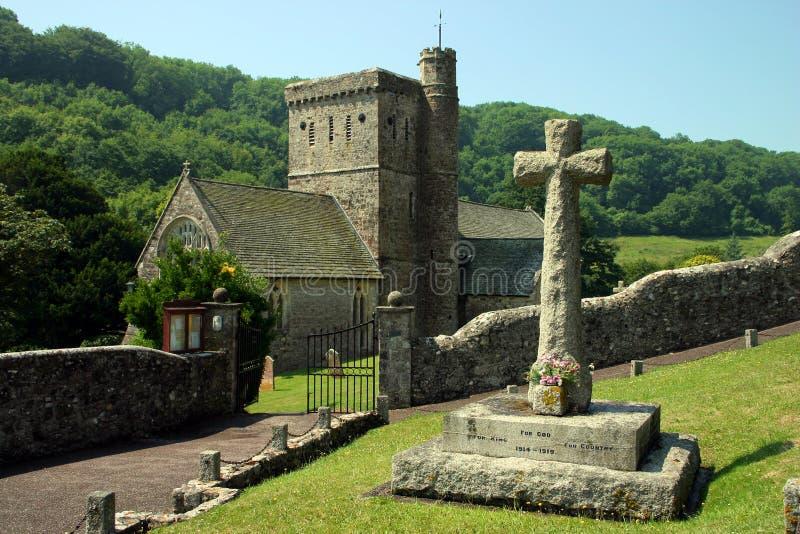Chiesa di Branscombe immagini stock libere da diritti