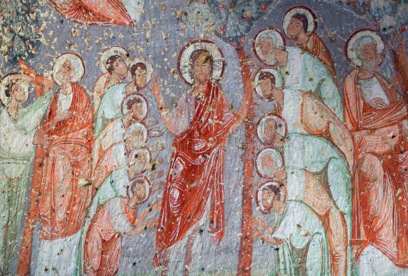Chiesa di Cavusin in Cappadocia, Turchia immagine stock