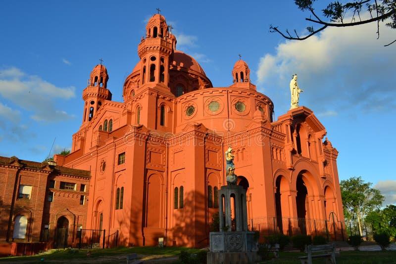 Chiesa di Cerrito, città di Montevideo immagine stock libera da diritti