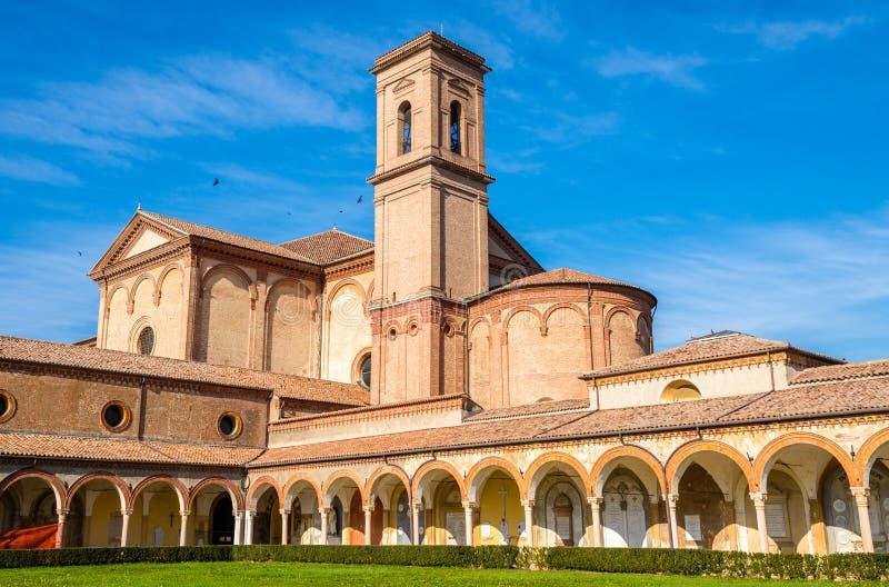 Chiesa di Certosa di alla di San Cristoforo a Ferrara immagini stock