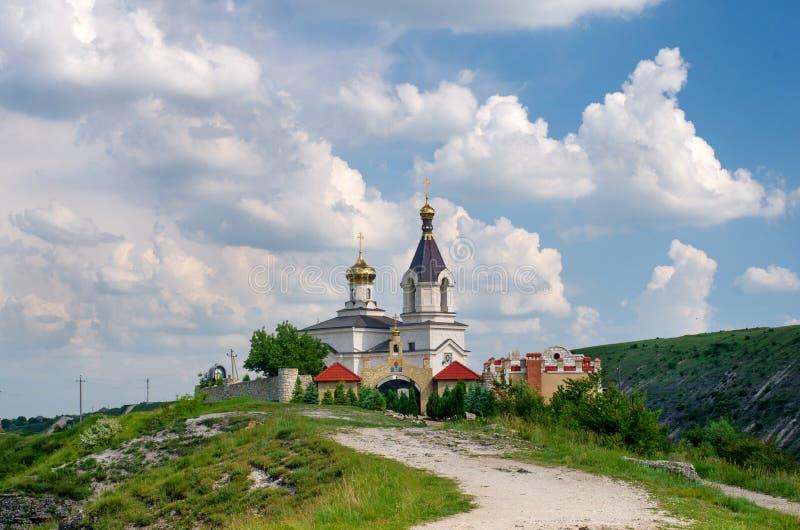Chiesa di Christian Orthodox dentro, la Moldavia immagine stock libera da diritti