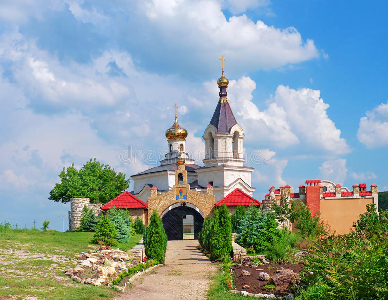 Chiesa di Christian Orthodox, Moldavia fotografie stock
