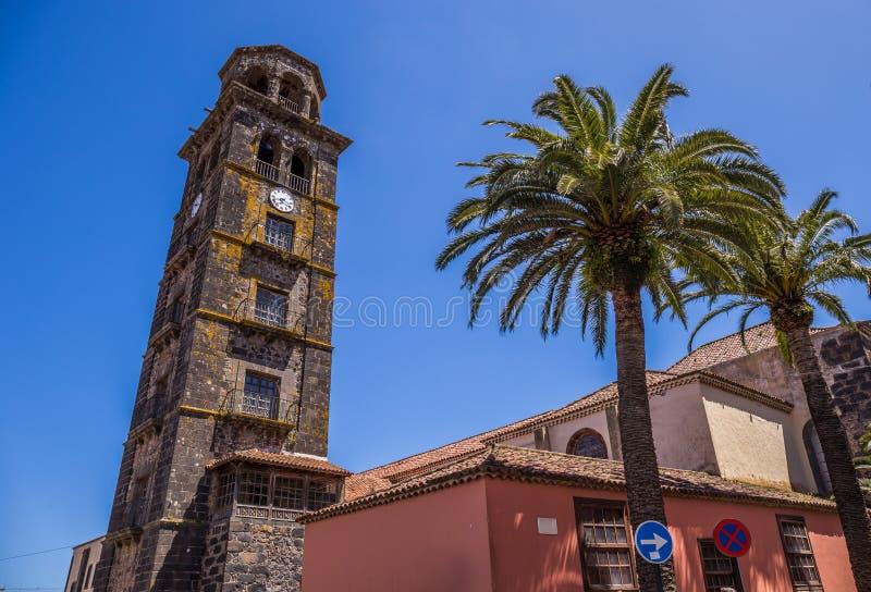 Chiesa di Concepción, San Cristobal de La Laguna, Santa Cruz de Tenerife, Spagna immagine stock libera da diritti