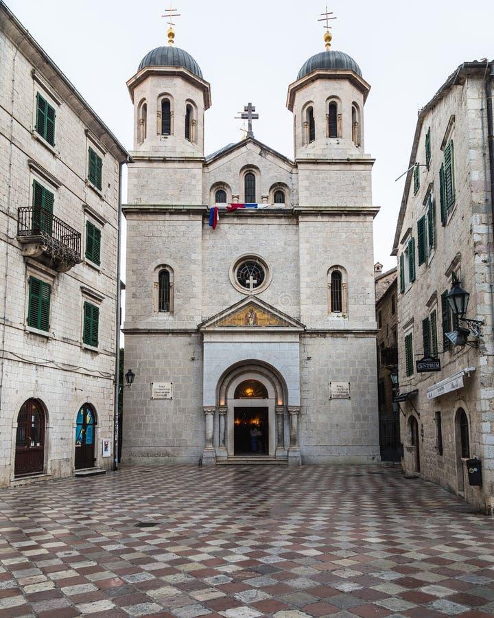 Chiesa di Crkva Svetog Nikole in Cattaro immagini stock libere da diritti