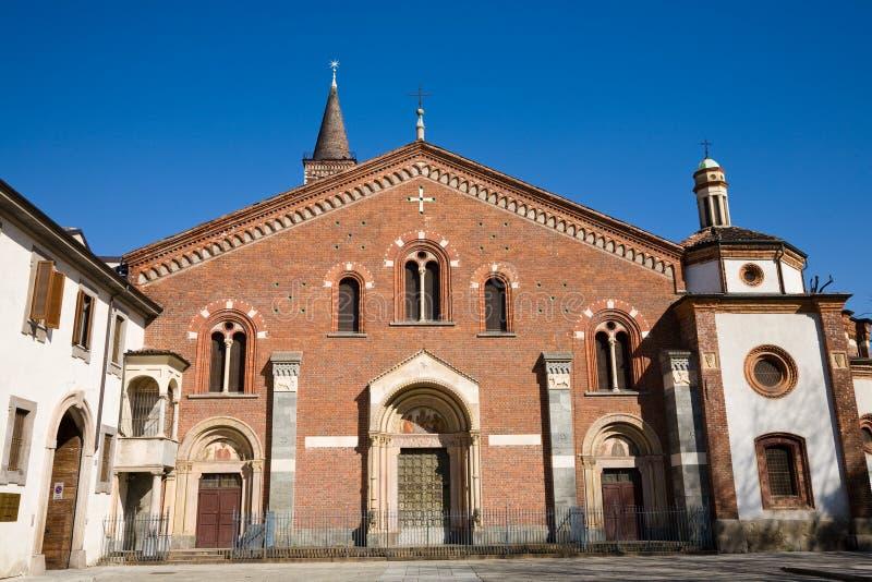 Chiesa di Eustorgio, Milano fotografia stock libera da diritti