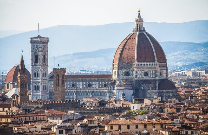 Chiesa di Fiori di dei di Santa Maria, la cupola della città di Firenze, Toscana, Italia immagine stock
