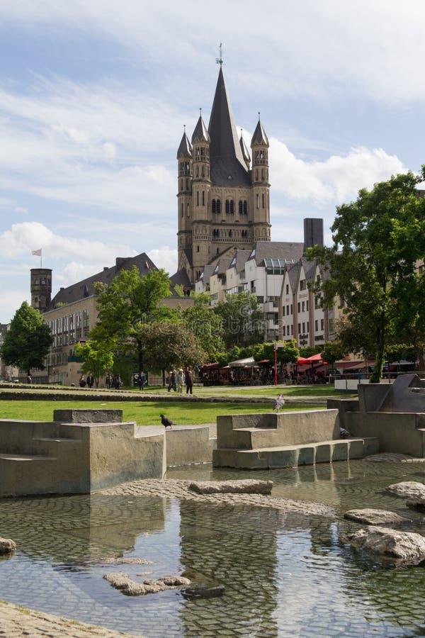 Chiesa di grande St Martin in Colonia immagine stock