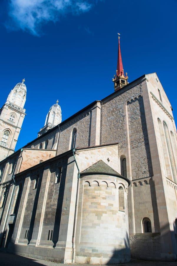 Chiesa di Grossmunster a Zurigo fotografia stock libera da diritti