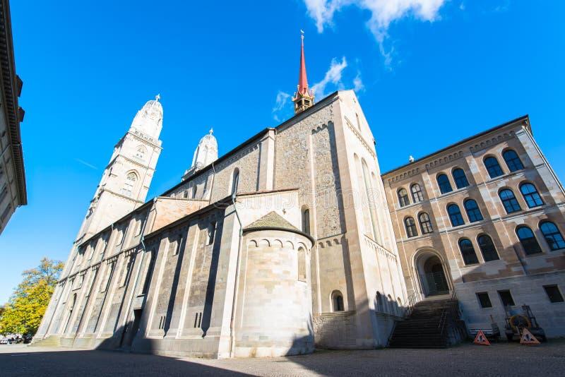 Chiesa di Grossmunster a Zurigo fotografia stock