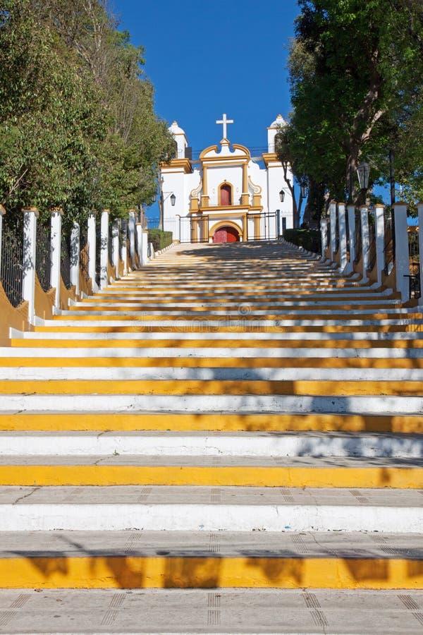 Chiesa di Guadalupe, San Cristobal de Las Casas, Messico immagine stock