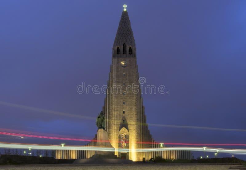 Chiesa di HallgrÃmskirkja immagini stock libere da diritti