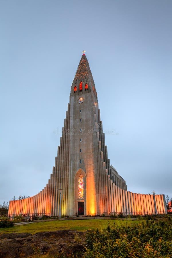 Chiesa di Hallgrimskirkja fotografia stock libera da diritti