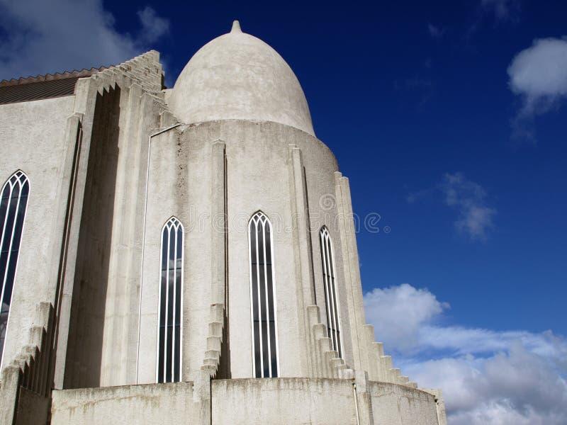 Chiesa di Hallgrimskirkja, Islanda immagini stock