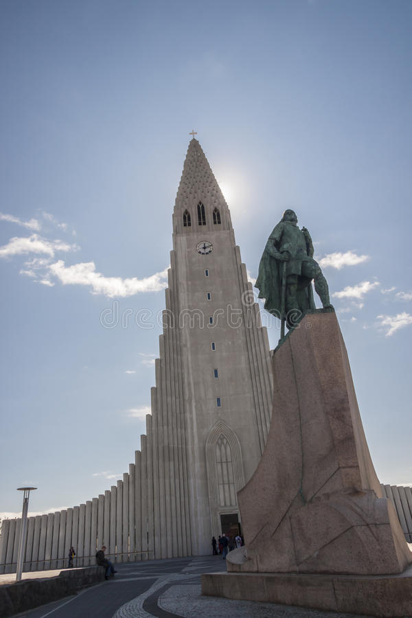 Chiesa di Hallgrimskirkja - Islanda. fotografia stock libera da diritti