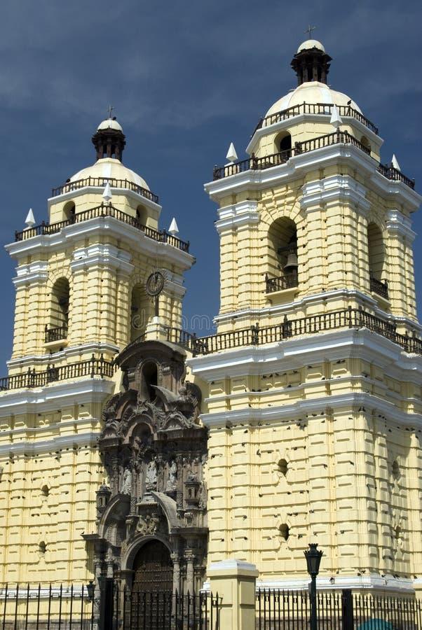 Chiesa di Iglesia del particolare Lima Perù di San Francisco immagine stock libera da diritti