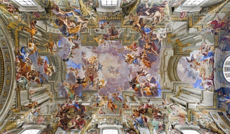 chiesa Di Ignazio Loyola Rome dachowy sant zdjęcie royalty free