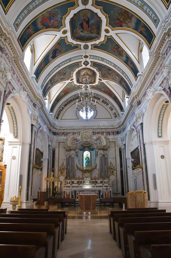 Chiesa di Immacolata Minervino Murge La Puglia L'Italia immagini stock libere da diritti