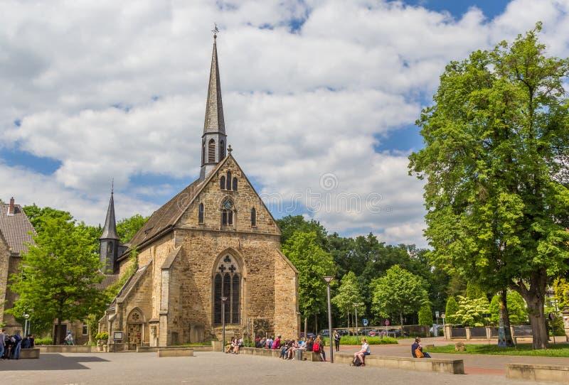 Chiesa di Jacobi nel centro storico di Rinteln fotografia stock