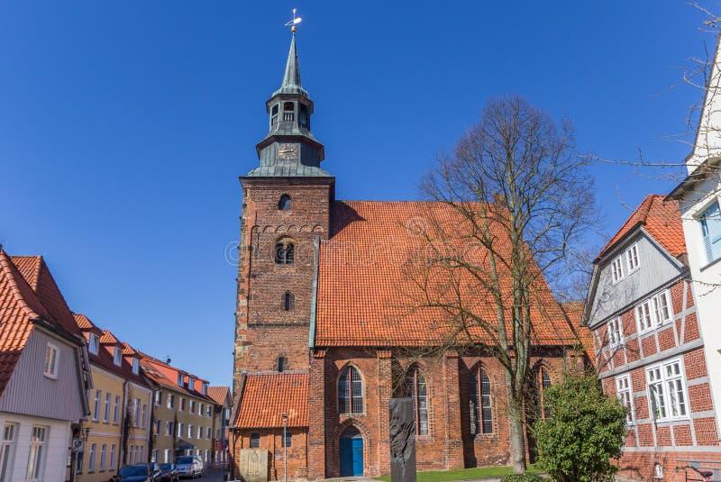 Chiesa di Johannis nel vecchio centro di Verden immagine stock