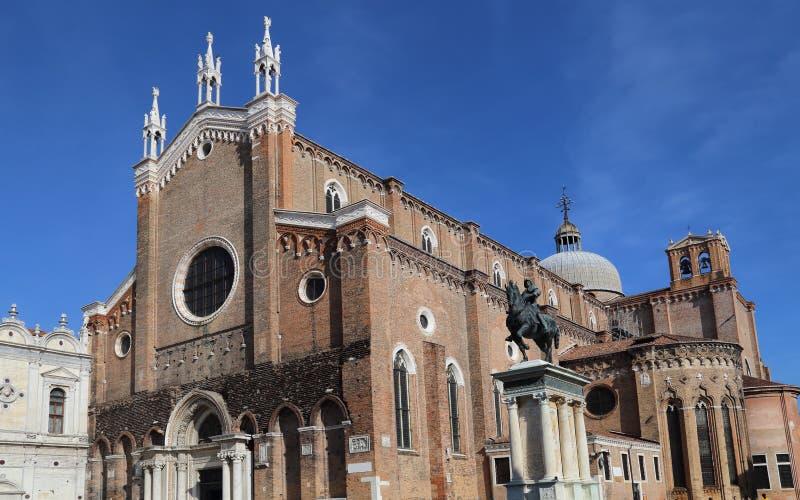 Chiesa di John e di Paul a Venezia, Italia fotografie stock libere da diritti