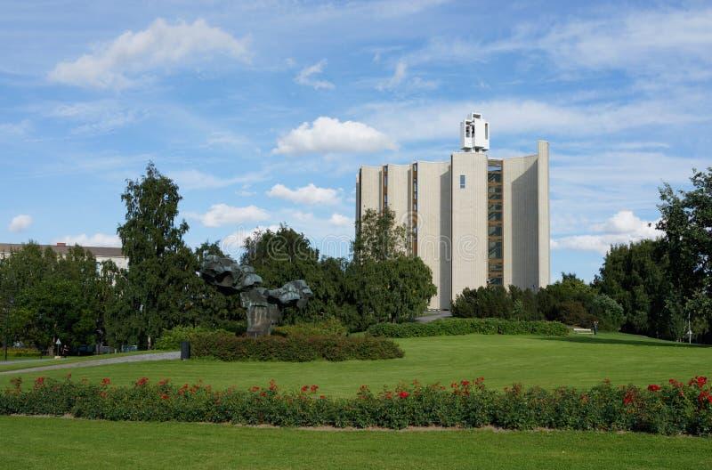 Chiesa di Kaleva, Tampere, Finlandia fotografia stock libera da diritti