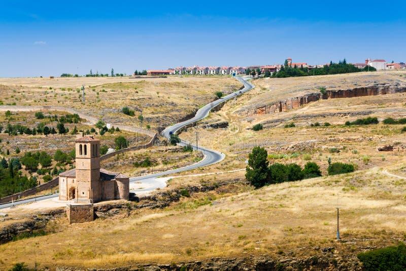 Chiesa di La Vera Cruz a Segovia Spagna di estate immagini stock