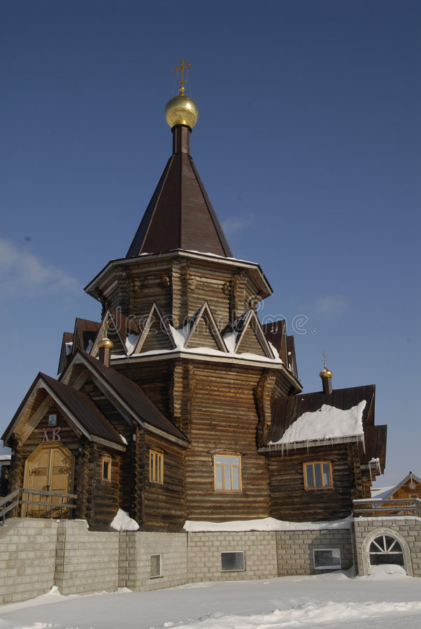 Chiesa di legno fotografia stock libera da diritti
