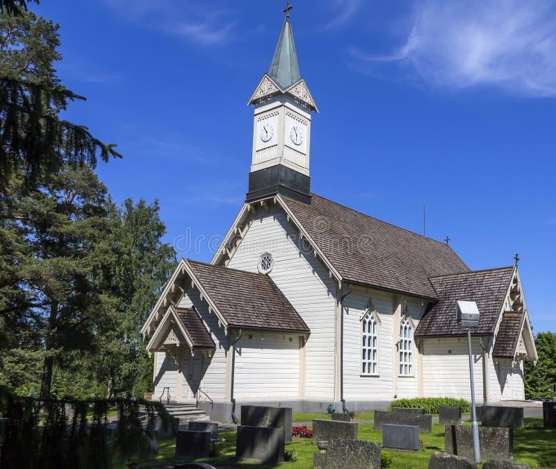 Chiesa di legno fotografia stock