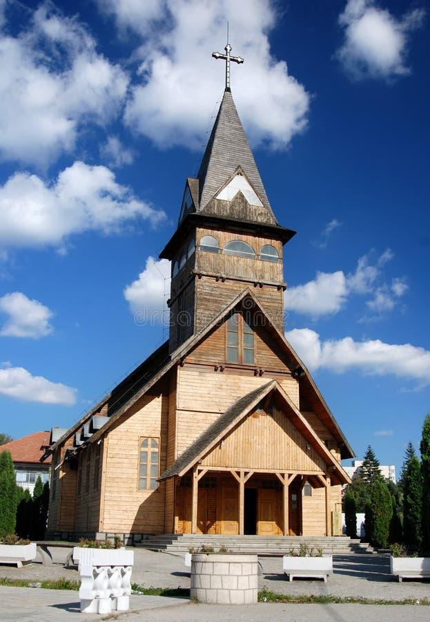 Chiesa di legno in Brasov fotografia stock