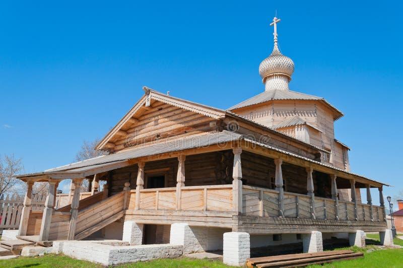 Chiesa di legno della trinità di John Baptist Monastery. Sviyazhsk i fotografia stock libera da diritti