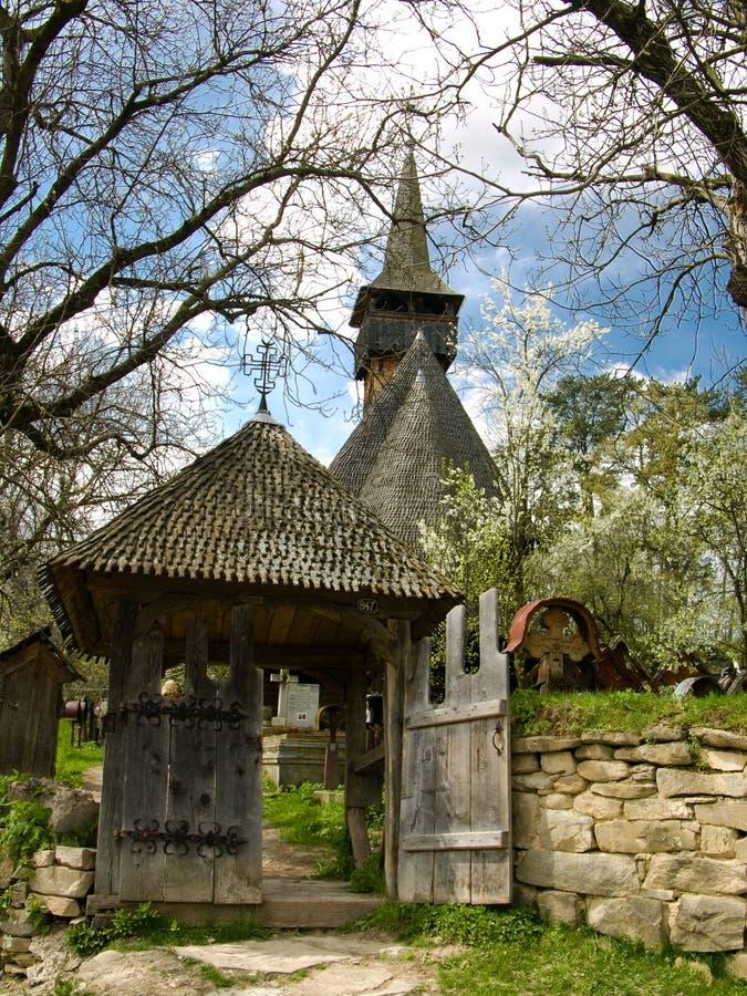 Chiesa di legno di Ieud in Maramures immagini stock