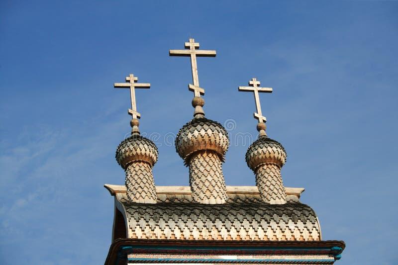 Chiesa di legno in Kolomna fotografia stock libera da diritti