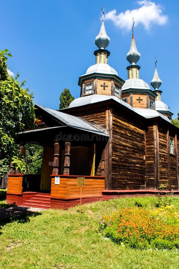 Chiesa di legno ortodossa l'ucraina fotografia stock libera da diritti
