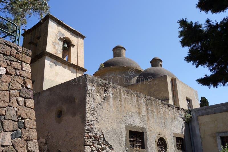 Chiesa di Lipari fotografie stock libere da diritti
