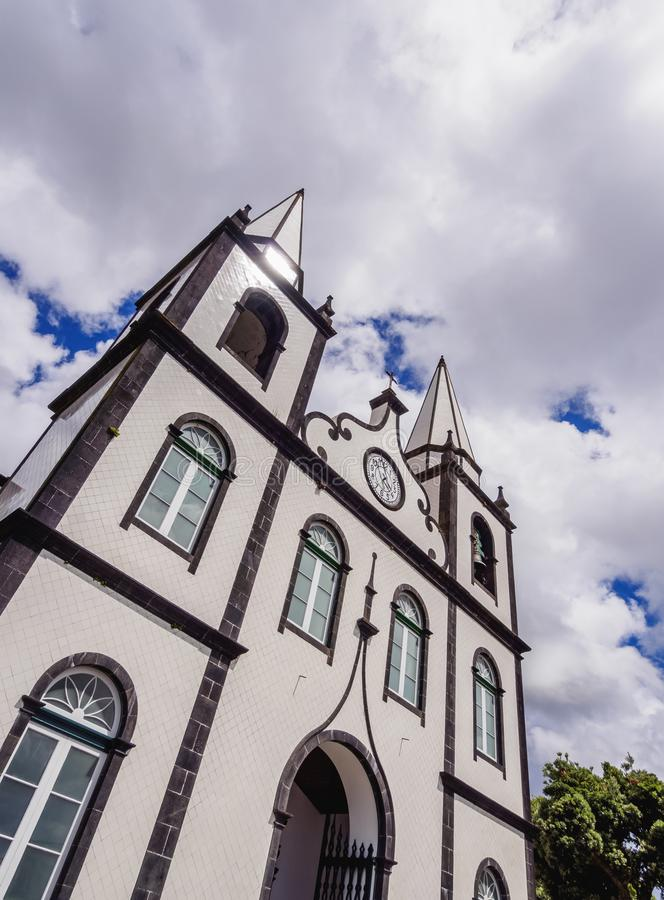 Chiesa di Madalena sull'isola di Pico, Azzorre fotografia stock
