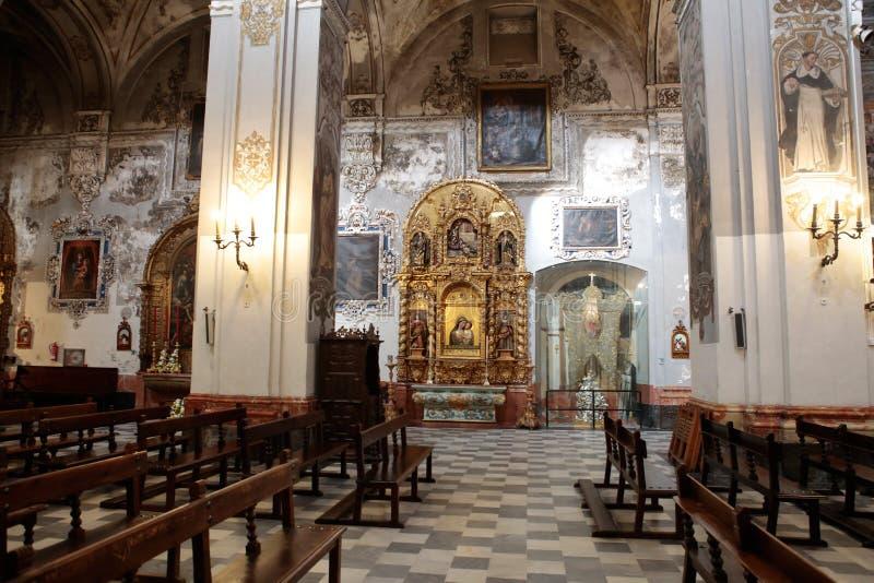 Chiesa di Madeleine del san nella decorazione di arché e dei soffitti di Siviglia fotografie stock libere da diritti
