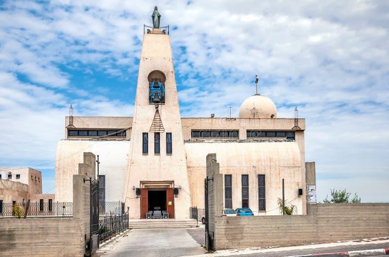 Chiesa di Maronite dell'annuncio Nazaret fotografia stock libera da diritti