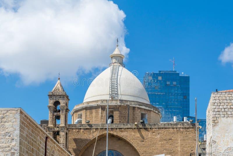 Chiesa di Maronite ed altre costruzioni, a Haifa fotografia stock libera da diritti