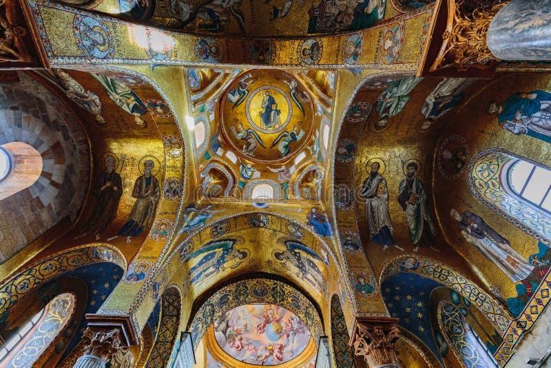 Chiesa di Martorana della La a Palermo, Italia fotografie stock
