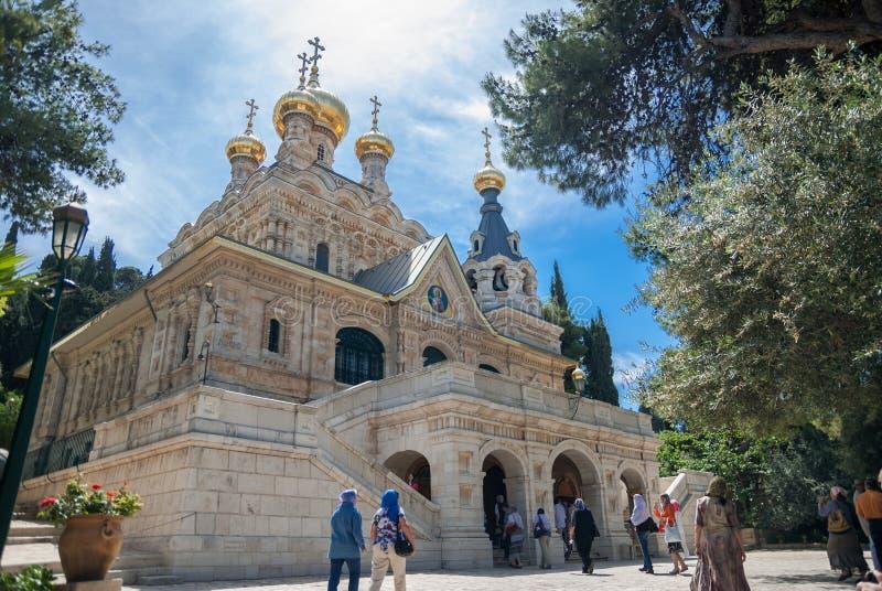 Chiesa di Mary Magdalene gerusalemme l'israele immagine stock libera da diritti