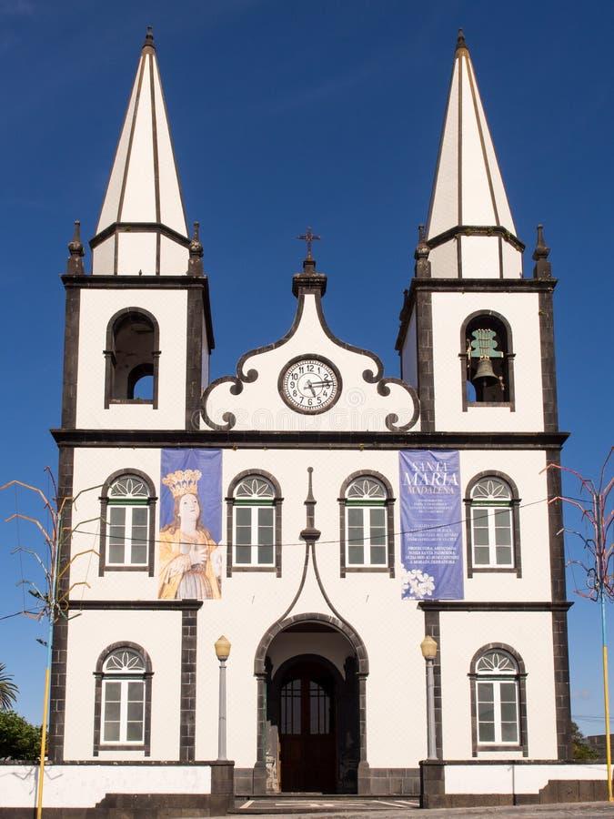Chiesa di Mary Magdalene santa, Pico Island, Azzorre fotografie stock libere da diritti