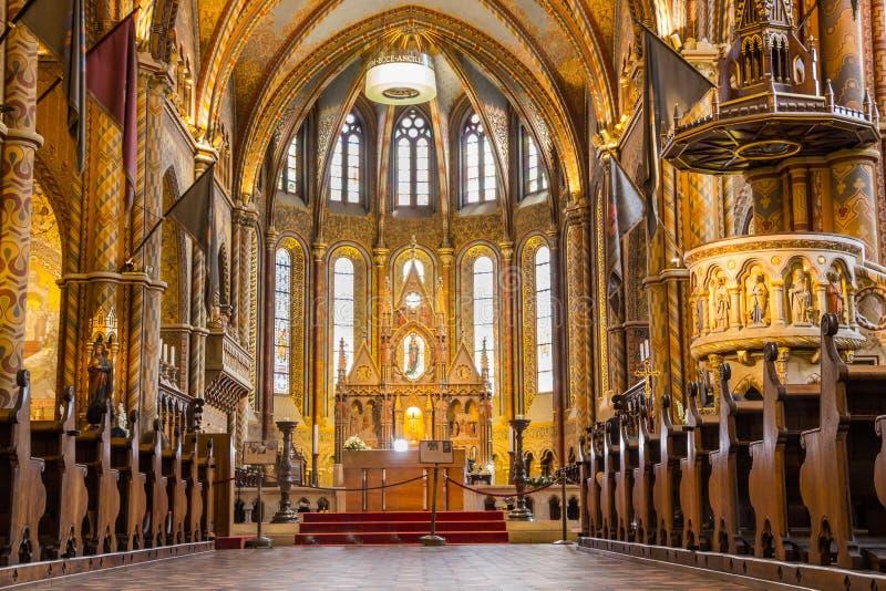 Chiesa di Matthias a Budapest la capitale di immagine stock