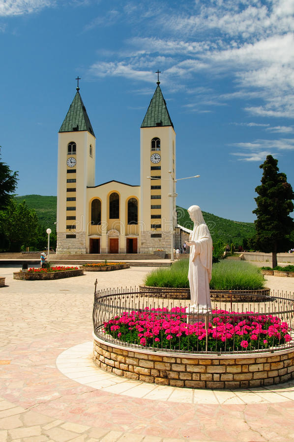Chiesa di Medugorje fotografie stock libere da diritti