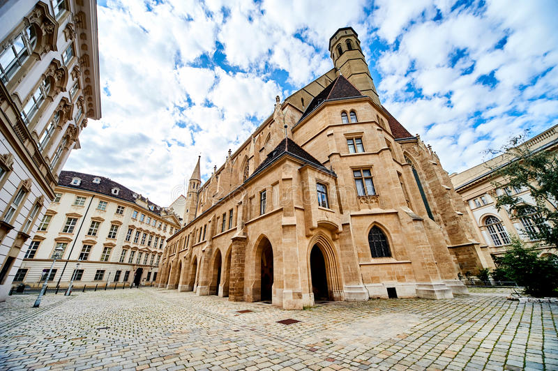 Chiesa di Minoriten & x28; Minoritenkirche& x29; nella città di Vienna l'austria fotografia stock