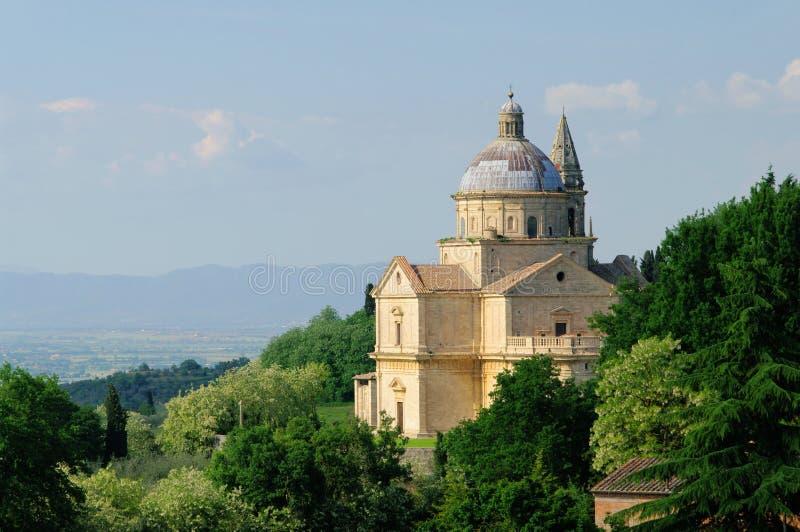 Chiesa di Montepulciano immagine stock
