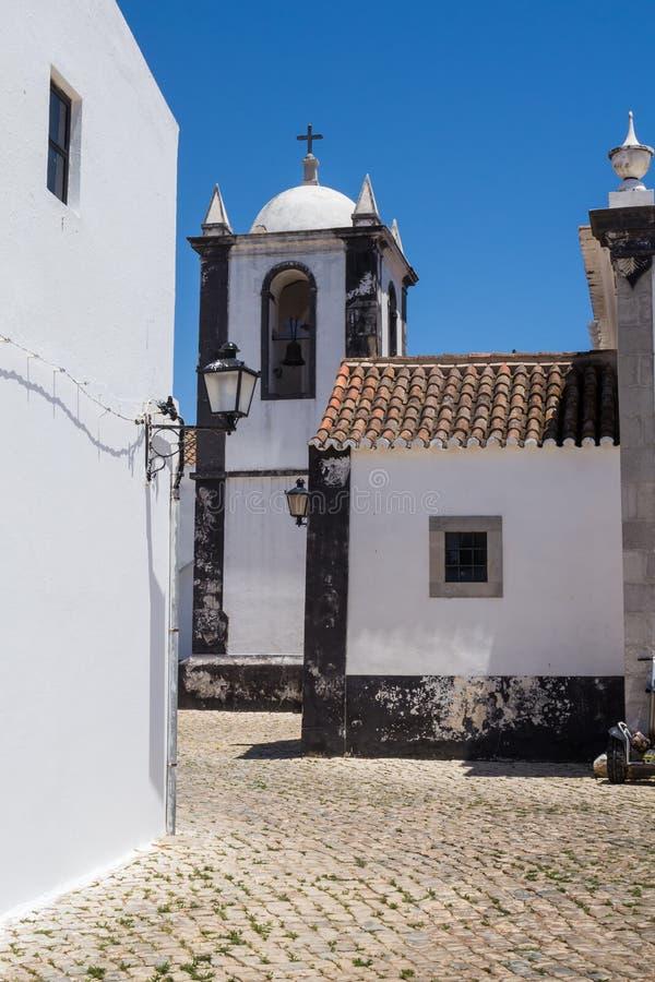 Chiesa di Nossa Senhora da Assuncao, Cacela Velha, Portogallo fotografie stock libere da diritti