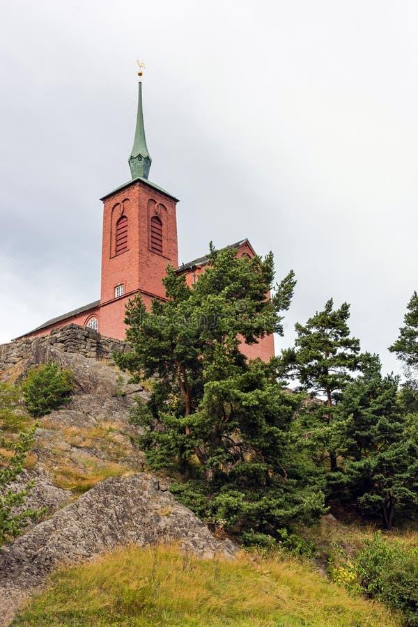 Chiesa di Nynashamn, fotografia stock libera da diritti
