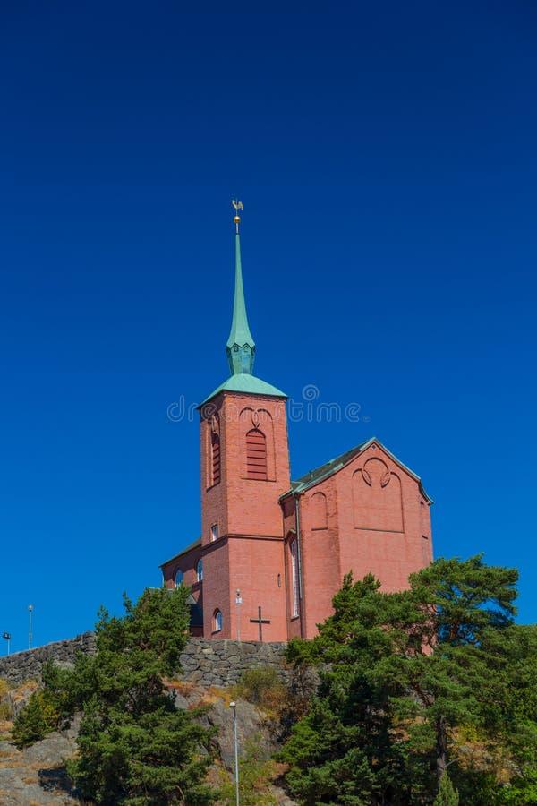 Chiesa di Nynashamn, Stoccolma, Svezia fotografie stock libere da diritti